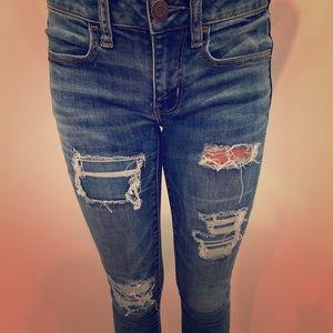 American eagle skinny jeans!!